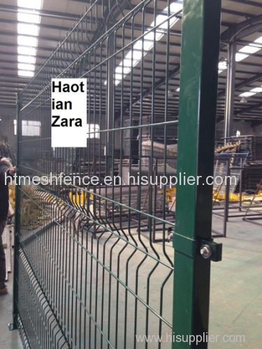 Green Powder Coating Curved welded wire fence panel