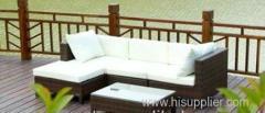 New style outdoor rattan sofa furniture/fashion indoor PE rattan sofa set