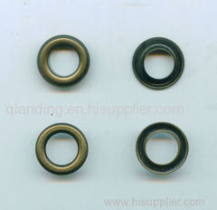 Brass. eyelet Color: Follow customers' design.Many size are reached.Different fashion styles