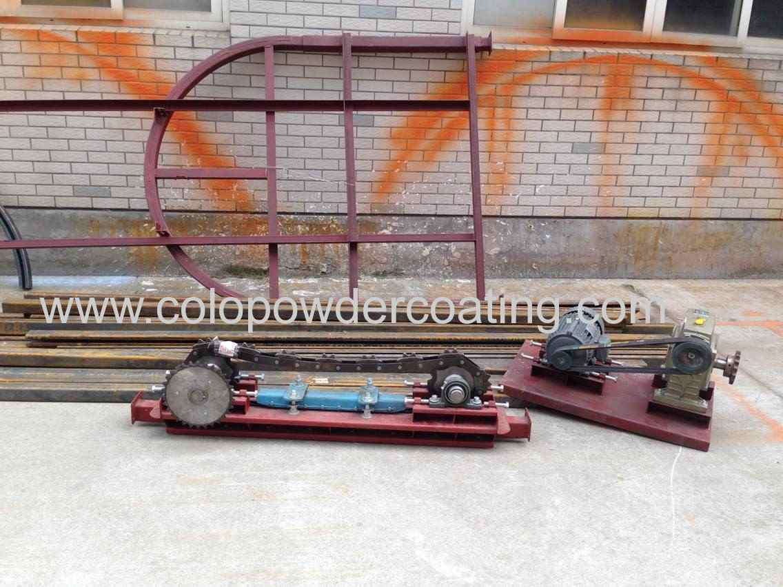 Powder coating line conveyor system export to Thailand