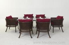 wicker Dining Room Set .