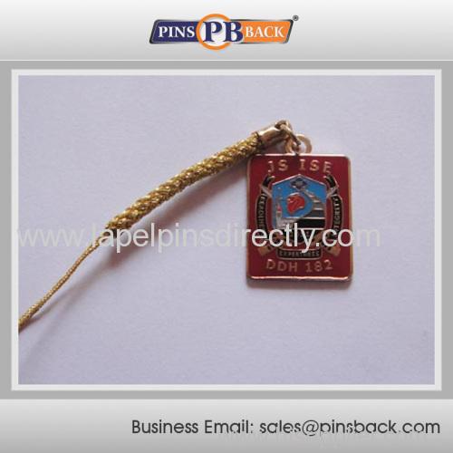 2014 hot item Lapel Pin Strap lapel pin for gifts/Mobile Phone strap pendant custom made
