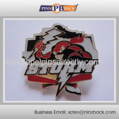 Custom metal cheap baseball trading pins/soft enamel baseball pin badge