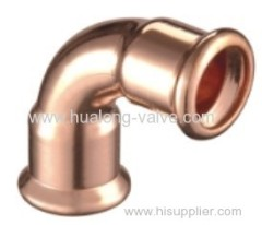 Copper Press 90 Degree Elbow