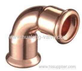 Copper Press 90 Degree Elbow