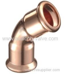 Copper press 45 Degree Elbow