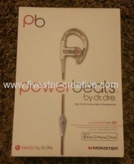 Powerbeats pb by Dr.Dre Lebron James Sport In-Ear Headphones White