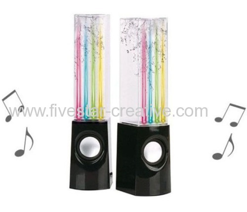 LED Water Dancing Stereo Music Fountain Light Portable Audio LED Speakers