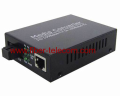 Gigabit Ethernet to Fiber Media Converter
