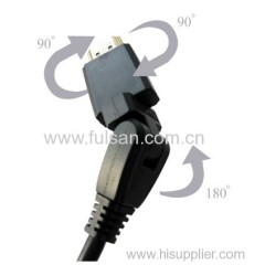 1080p swivel hdmi cable with ethernet