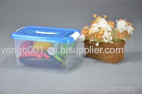 Plastic storage box with lid