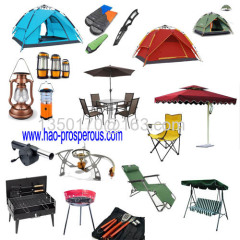 camping tent light BBQ tools leisure furnitre talbe chair umbrella charbroiler