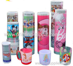 Heat transfer film for plastic products