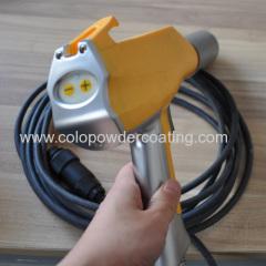 Manual powder coating gun system for any powder