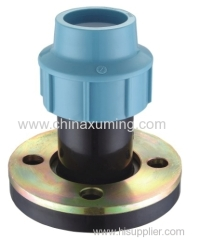 PP Flange Adapter With Zinc-Plated Steel Pipe Fittings