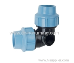 PP 90 Elbow With Lateral Threaded Female Take Off Fittings