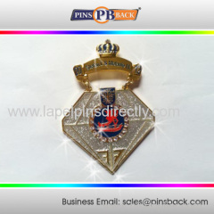 Custom diamond shape lapel pin