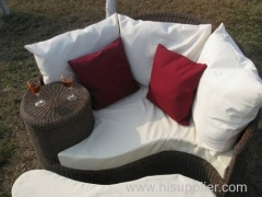 outdoor rattan/wicker sofa daybed set