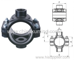 PP Double Clamp Saddle Fittings with PN10