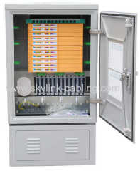 144 cores fiber optic cross cabinet