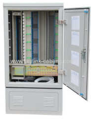 576 cores fiber optic cross cabinet