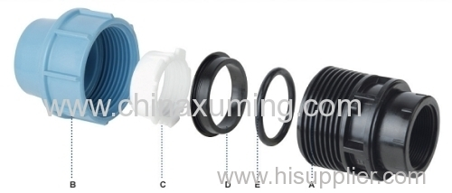 PP Male Threaded Coupling Pipe Fittings