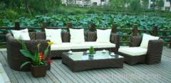 synthetic rattan/wicker weave sofa set outdoor furniture