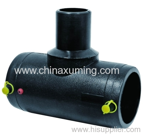 Pe electro fusion tee ° reducing fitting from china