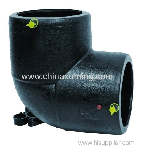 Pe electrio fusion injection elbow pipe fitting from china