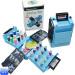 plastic foldaway universal button sewing box