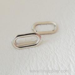 Nickel free gold anti-brass anti-copper gun metal of the eyelet