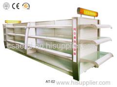 Supermarket display shelves rack