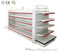 Supermarket gondola shelves display rack
