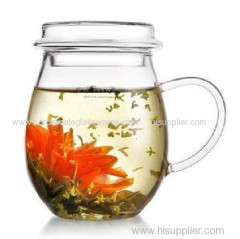 C&C Glass transparent heat resistant insulated glass teapot