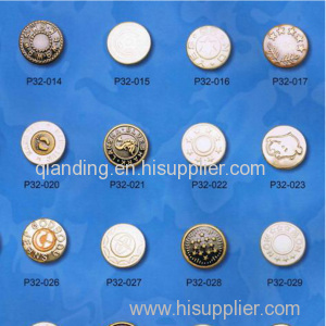 The jean button From 12mm to 30mm