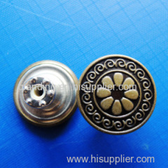 Movable Jeans Button with Words