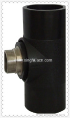HDPE butt welding fittings male tee