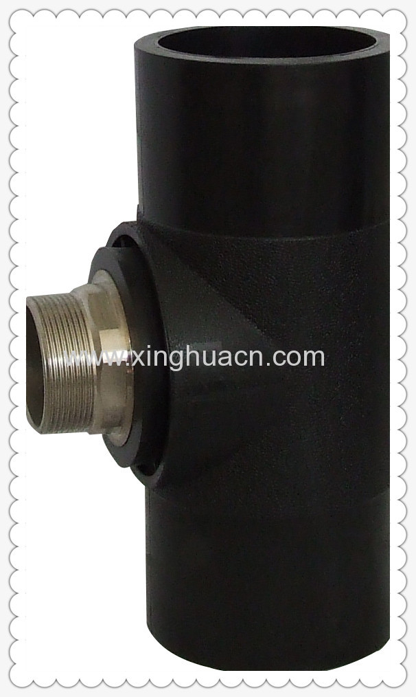 Hdpe socket fusion fittings male tee manufacturers and