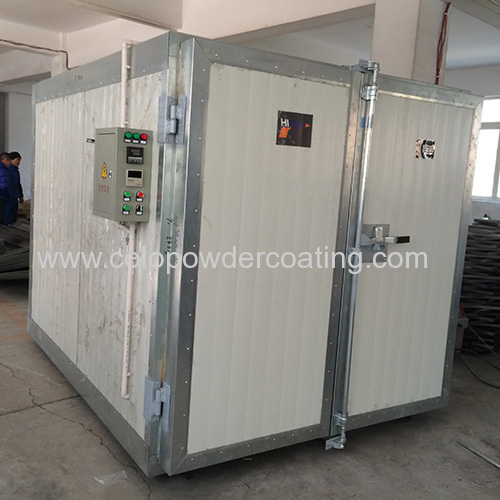China powder coating oven exported to Spain