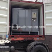 China powder coating booth exported to Spain