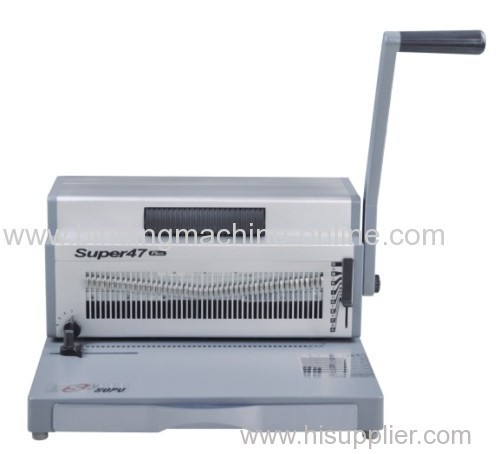 Heavy duty manual punching and electric spiral binding machine SUPER47 PLUS