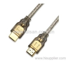Transparent 1.4V 2.0V HDMI Cable Assembly