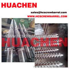 Doubel screw cyclinder conical twin screw barrel for extruder for sheets