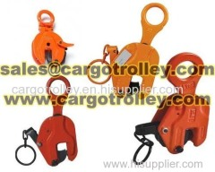Vertical lifting clamps for steel plate