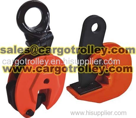 Steel plate lifting clamps adopt for lifting plates