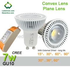 gu10 led downlights 7w