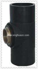 HDPE butt welding fittings female tee