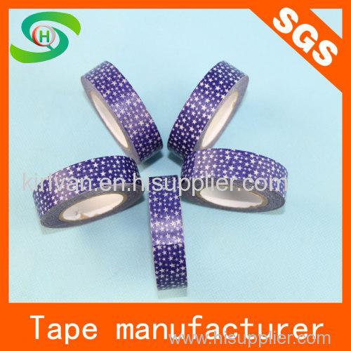 2014 hot designs new pattern custom printed decorative washi tape