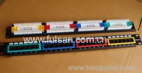 UTP 110 IDC 24 ports Rack Mount Panel Cat5e Patch panel