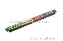 UTP RJ45 24 port cat 6/ cat5e patch panel